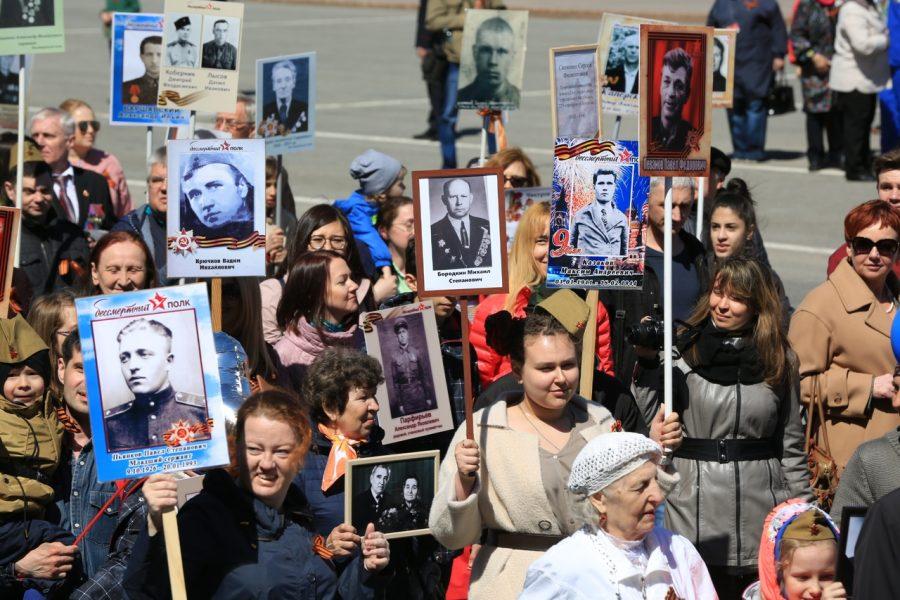 В акции «Бессмертный полк» поучаствовали почти 200 тысяч кузбассовцев