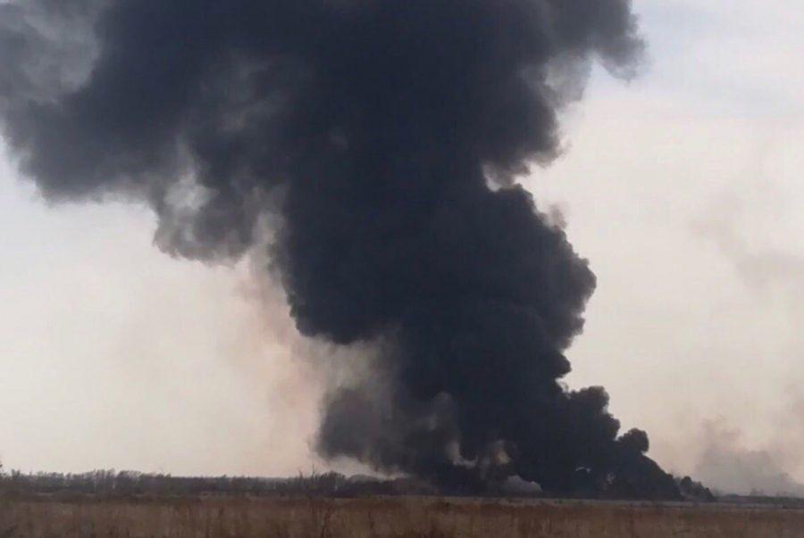 Нам нечем дышать: в кузбасском городе масштабный пожар